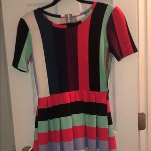 Lularoe Amelia stripped dress with pockets